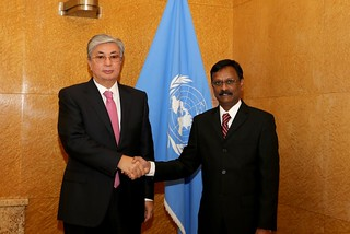 NEW PERMANENT REPRESENTATIVE OF MAURITIUS PRESENTS CREDENTIALS TO DIRECTOR-GENERAL OF UNOG