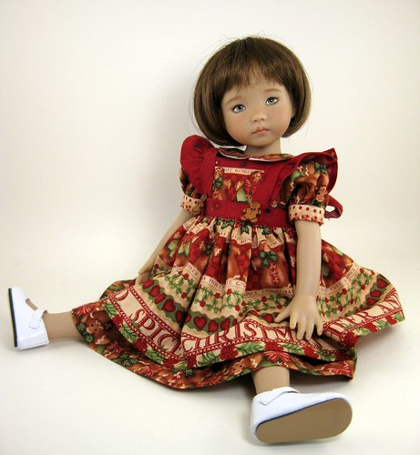 Janie in Christmas Dress by elizabeth's*whimsies