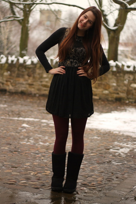 Chiara dress, Cloggs boots