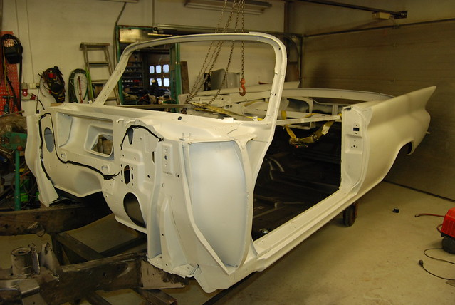 Vintage Parts 557888 24 2DOOR White Stamped Aluminum European License Plate