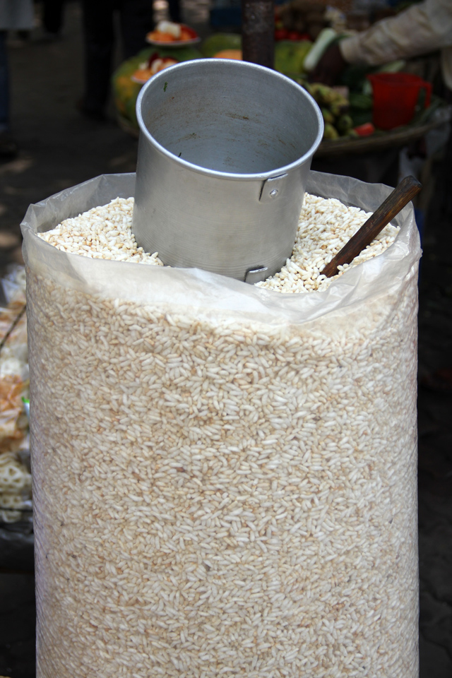 Bag of puffed rice for jhal muri