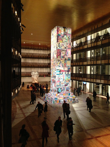 Art installation at the David H. Koch Theater/Lincoln Center, NYC.