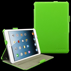 caseen Lime Green SOFT SNAP Multi Angle Stand Hand Strap & Auto Sleep/Wake Case Cover for Apple iPad Mini