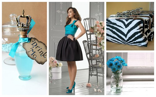 {Turquoise + Black} Wedding Color Inspiration by Nina Renee Designs