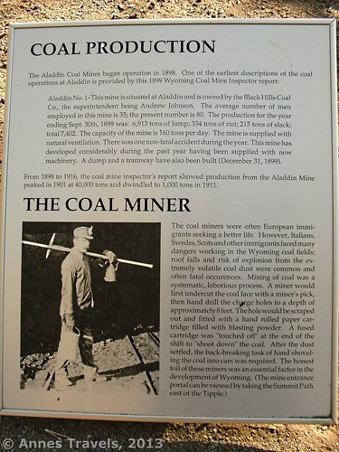 Coal Production and Coal Miner Sign, Aladdin Tipple Historical Interpretive Park, Wyoming