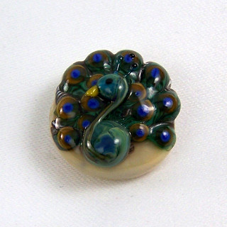 Peacock Focal Bead
