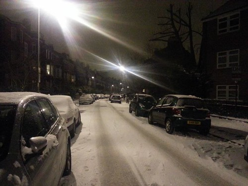 SAVERNAKE ROAD IN THE SNOW
