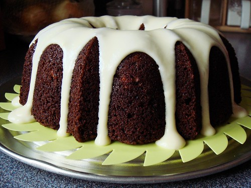 Persimmon Cake with Cream Cheese Icing