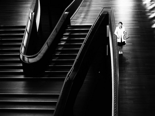 Black and white street photography by Martin Weibel