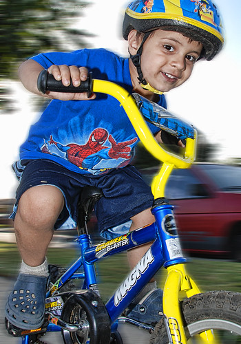 Kid bike ride