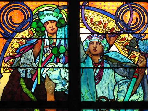 mucha window detail, st vitus cathedral