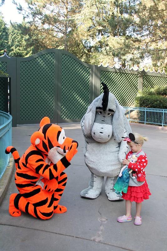 D meeting Tigger and Eeyore