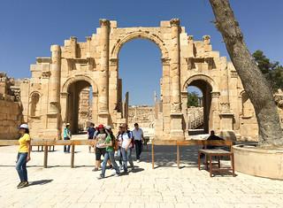 Image of Jerash. jordan middleeast city urban arabic jerash gerasa roman ruins stone archway architecture classical