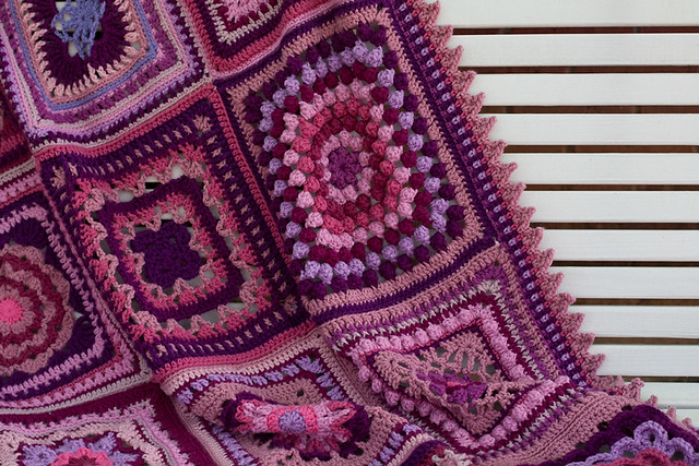 Pink and Purple Sampler Afghan