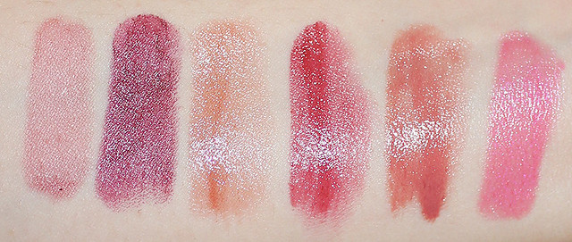 fall lipsticks swatch