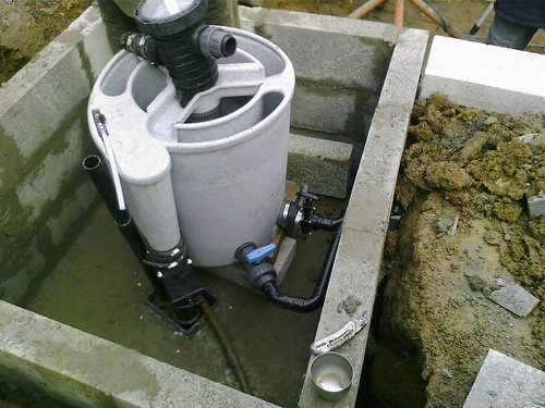 Our first koi pond help is definitely needed and for Koi pond bottom drain setup