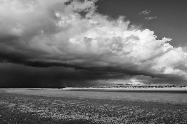Storm approaching East Head at Wittering