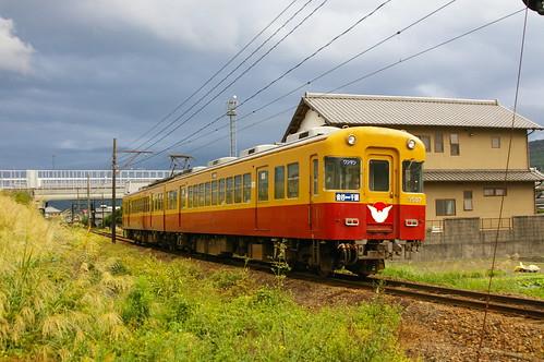 Oigawa Railway 3000 series near Goka.Sta in Shimada, Shizuoka, Japan /Oct 7, 2012