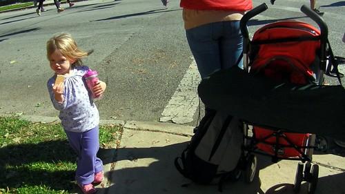 Child at Baltimore Marathon