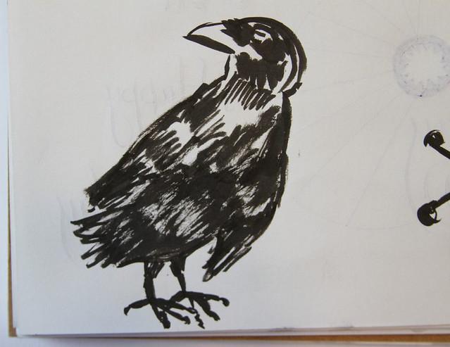 Brush Doodle - Raven