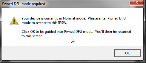 redsn0w pwned dfu mode