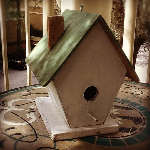 Birdhouse ::: home made by a Latvian cabinet maker