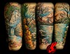 Nature Leg Sleeve Tattoo by Jackie Rabbit
