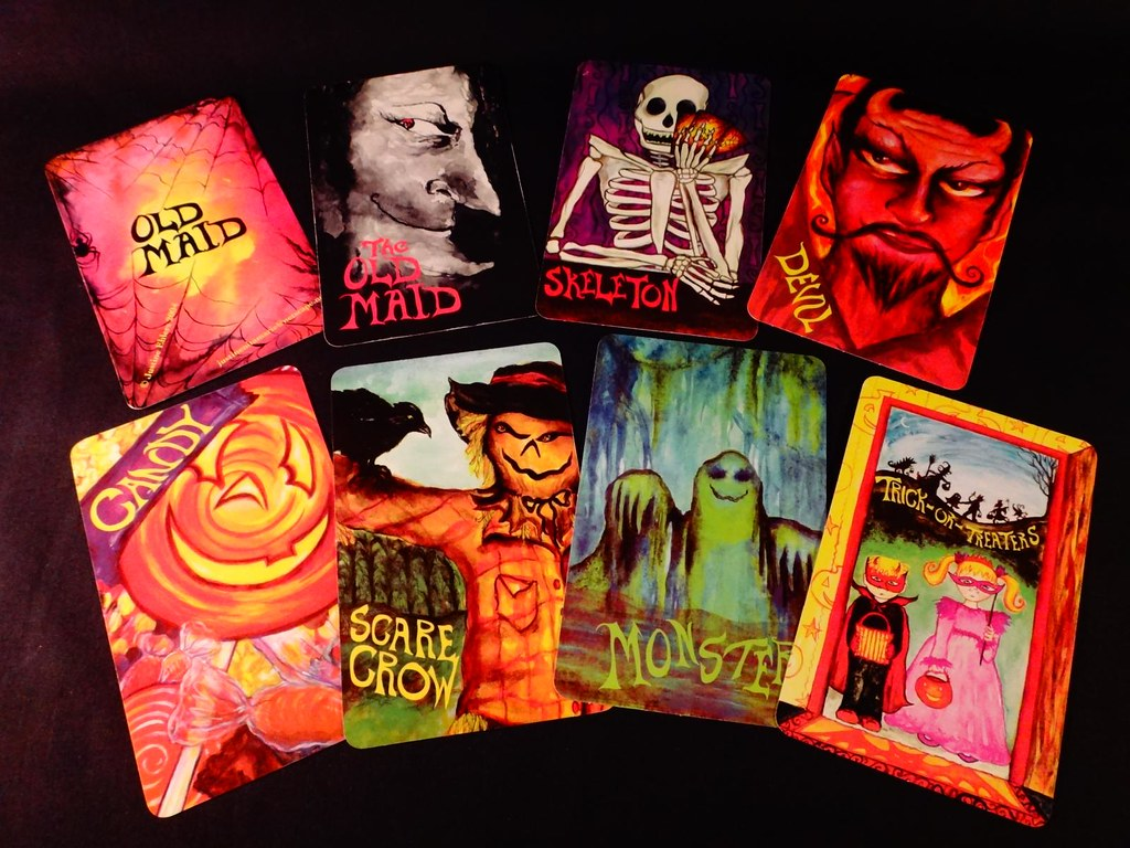 Old Maid Halloween card game by Justine Ehlers