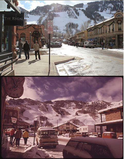 Aspen, CO 1974 by Ron Hoffman, 2012 by Dustin Wesley.