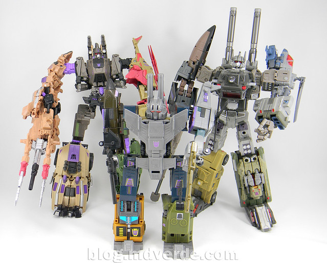 Transformers Bruticus Generations Fall of Cybertron - SDCC Exclusive - modo Bruticus vs G1 vs Universe