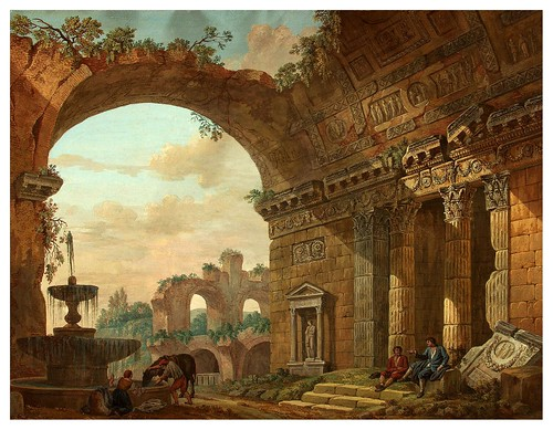 004-Fantasía arquitectónica- Charles-Louis Clérisseau- State Museum Hermitage