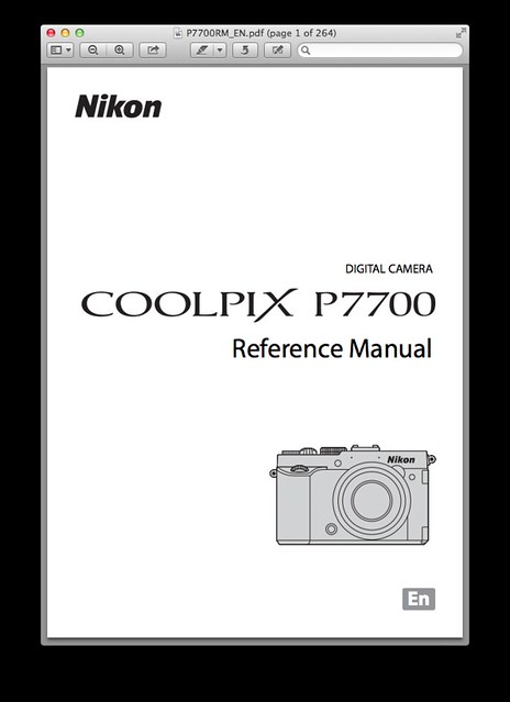 Nikon P7700 Manual