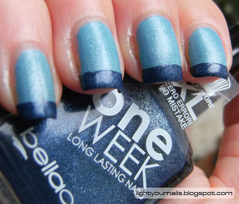 Blue french mani