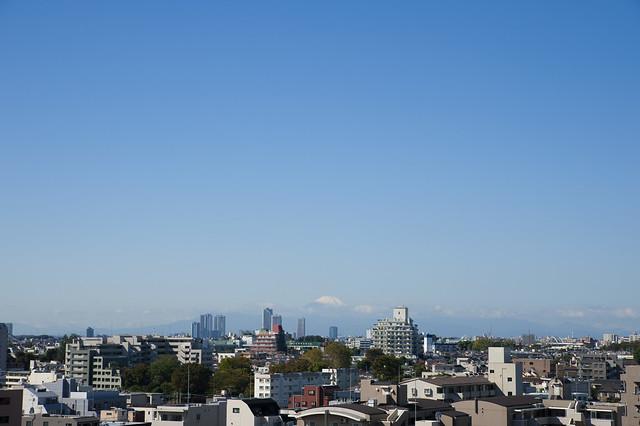 富士山、雪化粧