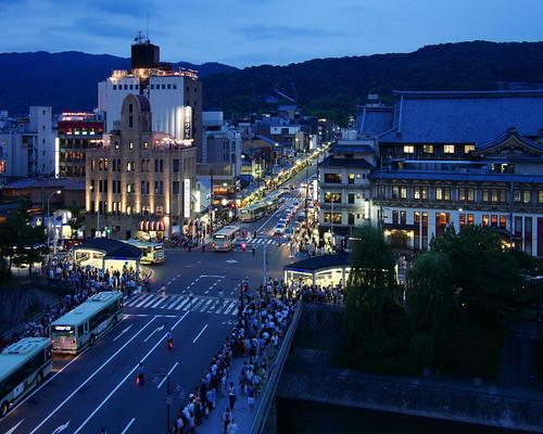 japan night twilight kyoto 京都 日本 祇園 夜景 夕景 鴨川