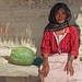 Retrato de doña Mara con un chilacayote; La Paz, Región Mixteca, Oaxaca, Mexico por Lon&Queta