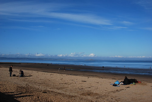 Porty beach on an autumnal day