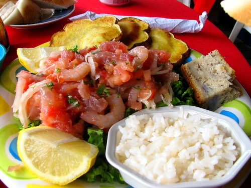 Cebiche de salmón en Carrito Popatiri