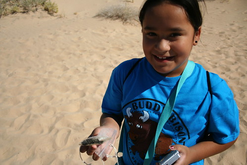 Baker Elementary Student Hunts for Magnetite Deposits at Kelso Dunes