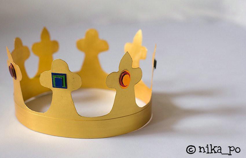 Корона из ватмана