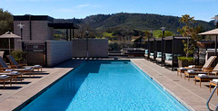 Poolside during the Fall in Napa Valley