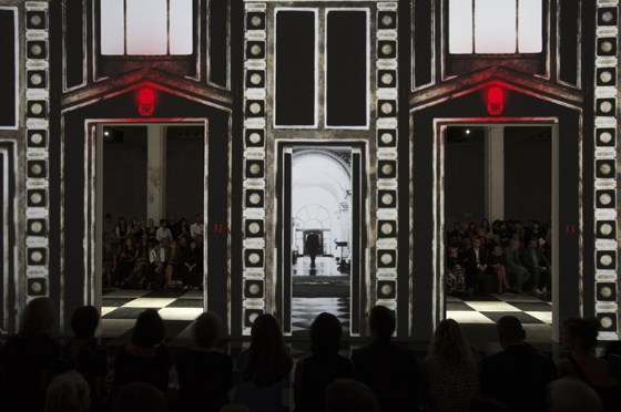 Prada's SS 2010 Women's Collection Catwalk, designed by AMO