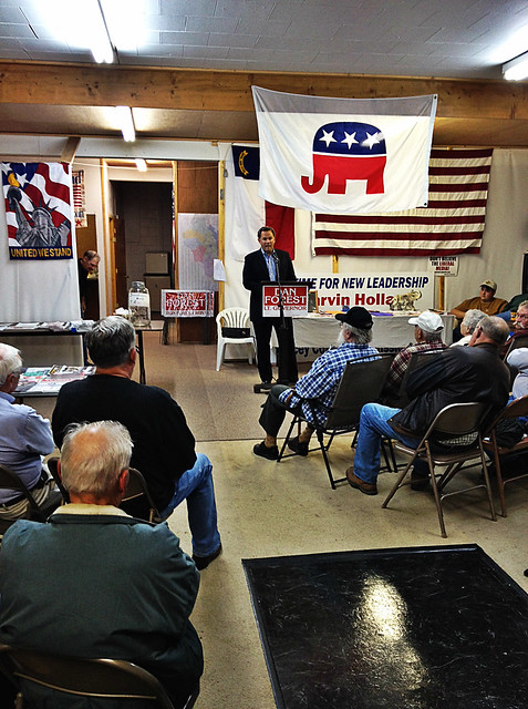 Speaking to the Yancey County GOP, in part to celebrate my 45th birthday last week.