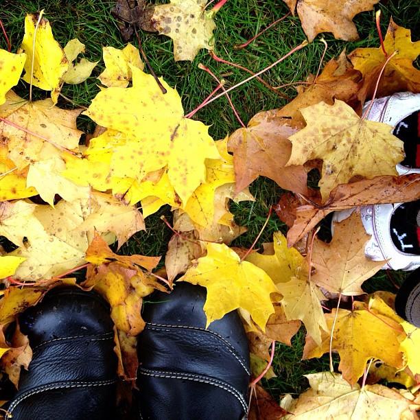 #feet #shoes #leaves #autumn #park