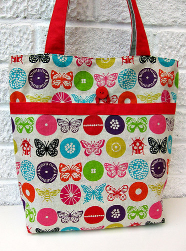Mouthy stitches tote (inside)
