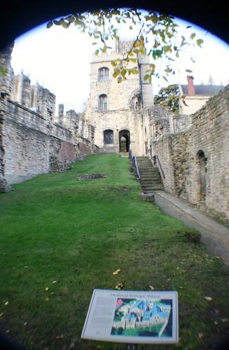 Inside Bishops' Palace Ruins