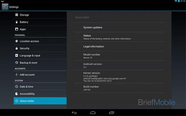цена Google Nexus 10