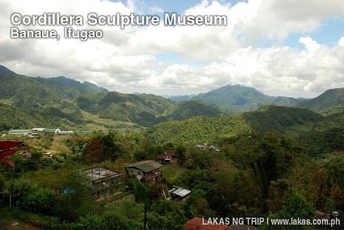 View from the window of the Cordillera Sculpture Museum
