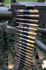 gun barrel(0.0), weapon(1.0), machine gun(1.0), firearm(1.0), gun(1.0), ammunition(1.0),