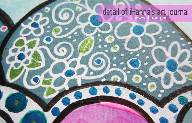 Art Journal detail: dots & swirls